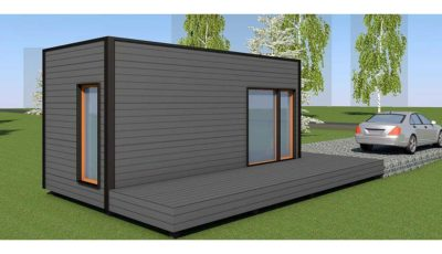Baltic CUBE 3x6 sauna, summer house flat roof