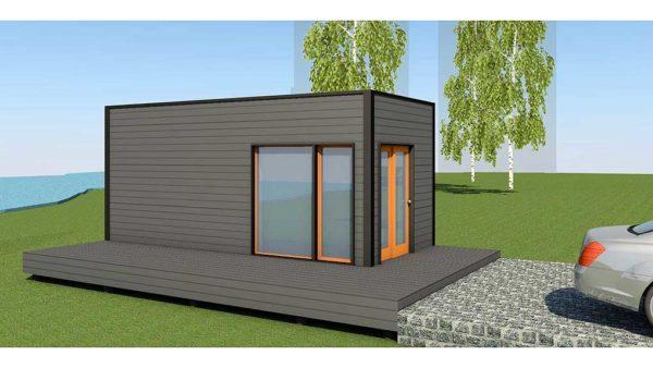 Baltic CUBE 3x6 saun suvila lamekatus