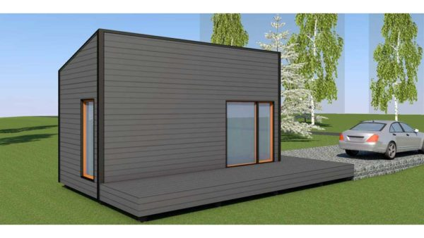 Baltic CUBE 3x6 sauna, summer house pitched roof